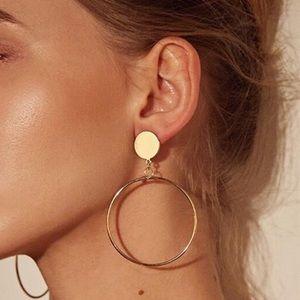 EARRINGS | Gold Drop Hoop Earrings